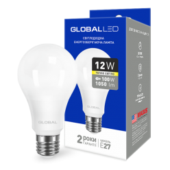 LED лампа GLOBAL A60 12W теплый свет E27 (1-GBL-165)